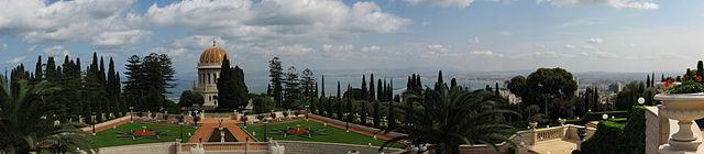 Panorama Haify, ogrody Bahajów