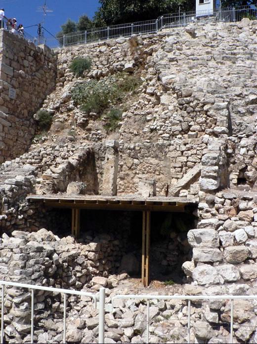 Kamienne schody w Jerozolimie