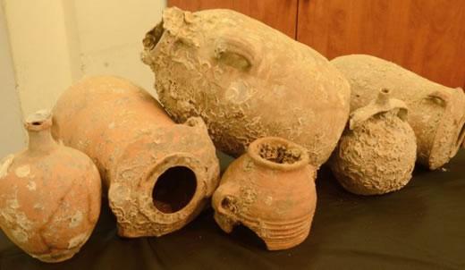 Starożytne naczynia wyłowione z Morza Śródziemnego