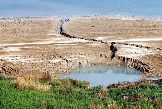 Lej krasowy na obszarze Morza Martwego