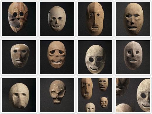 Maski znalezione podczas wykopalisk w Judei